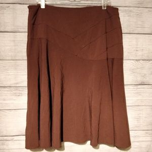 Brown Flare Skirt 14